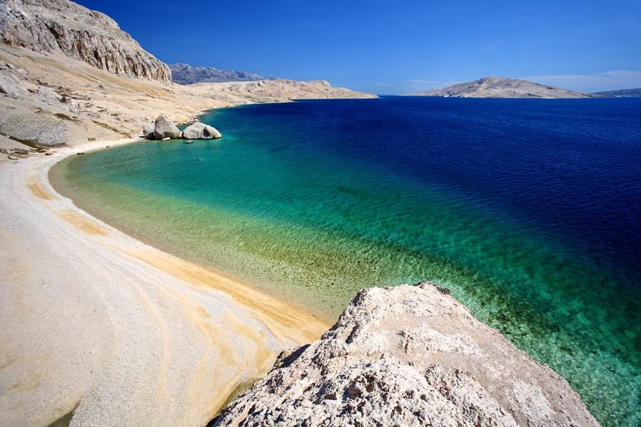 Beritnica beach strand i Kroatien