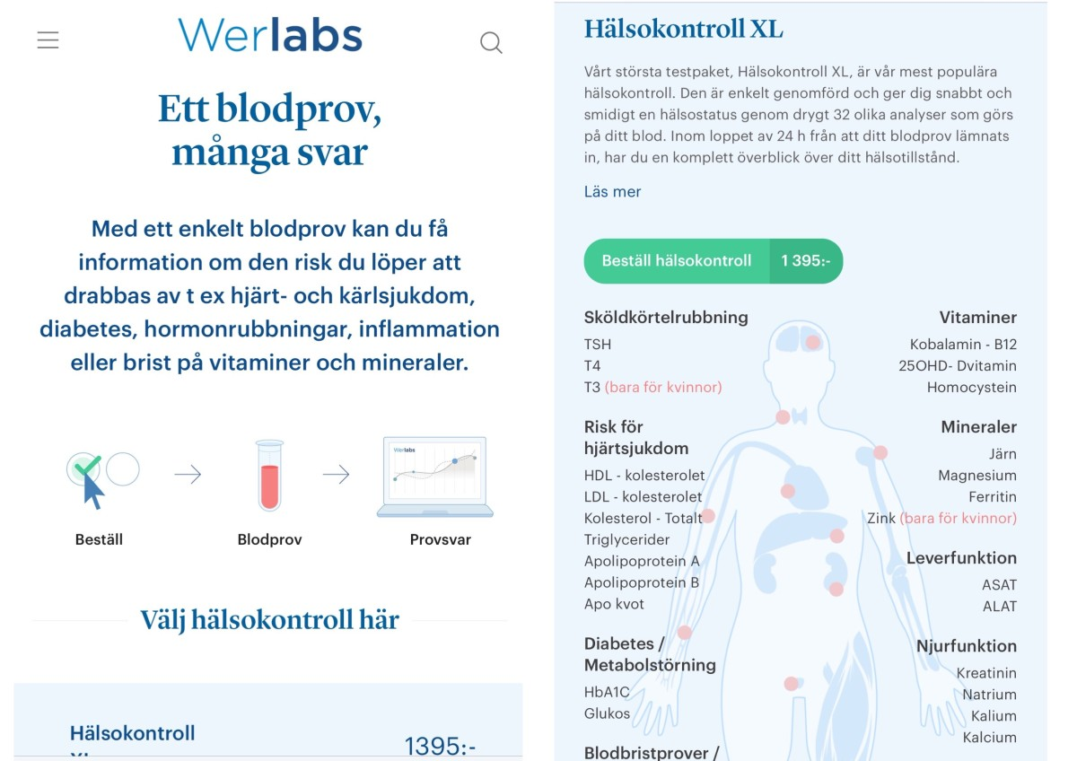 Werlabs blodprover