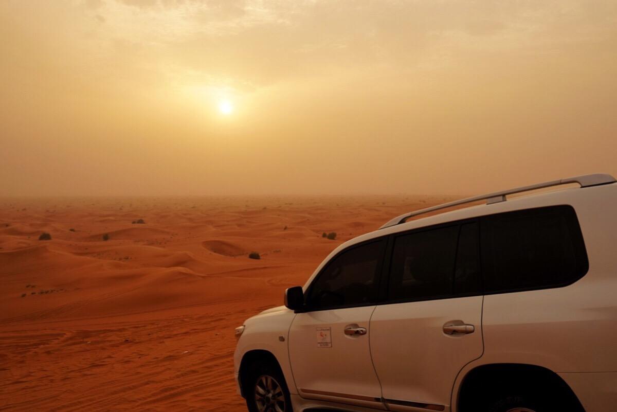 Dubai öknen