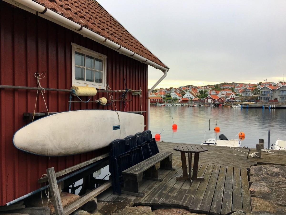 träning på Gullmarsstrand