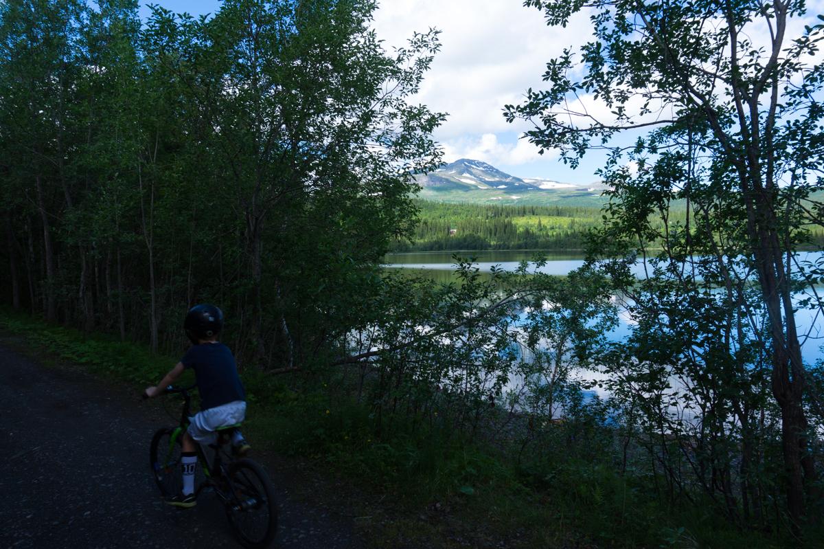 Cykla i Åre med barn