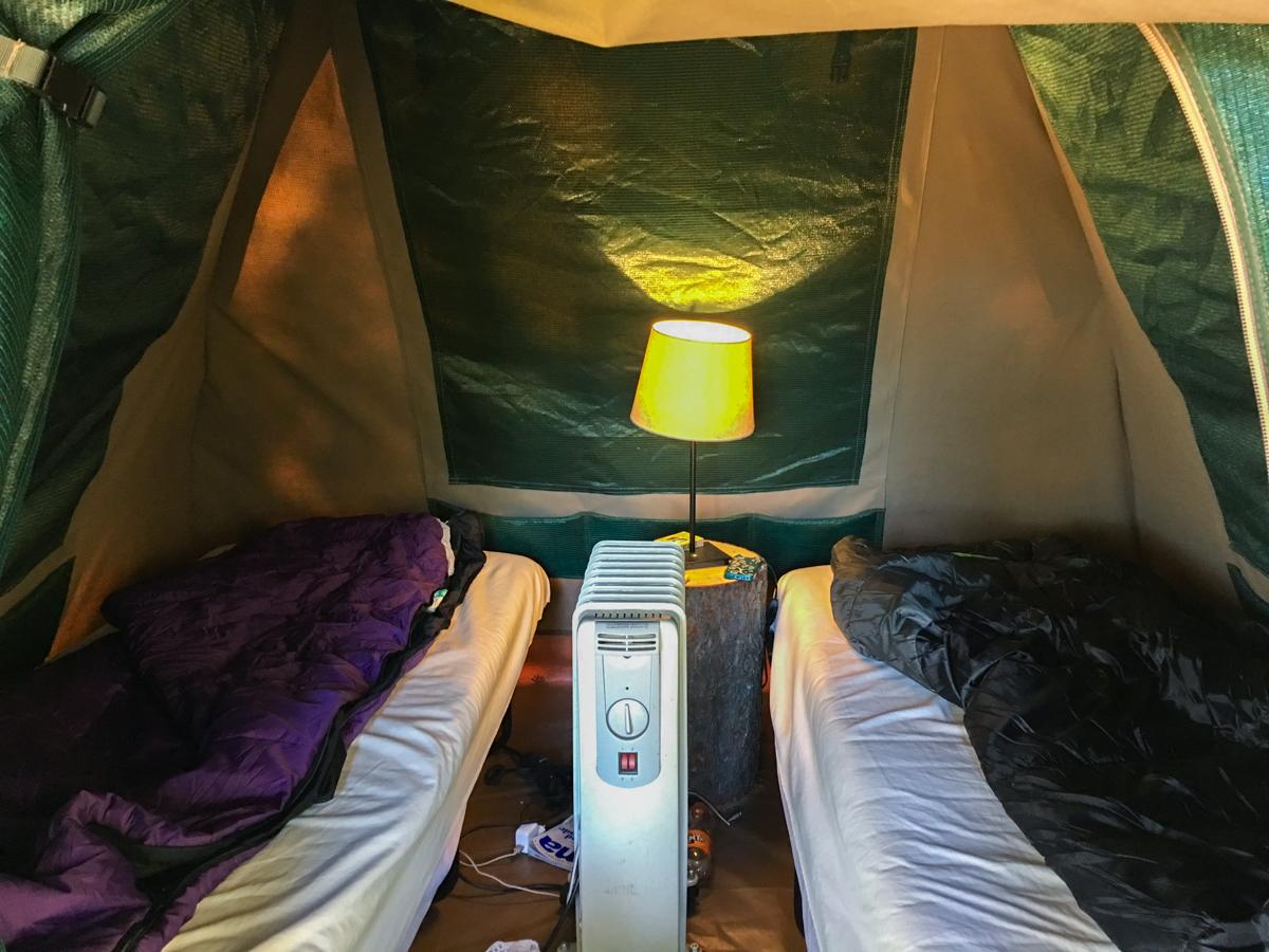 Safari Camp på Kolmården tälta i djurparken