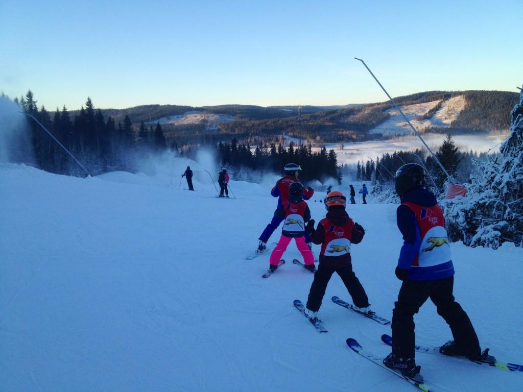 lära barn åka skidor - skidskola romme