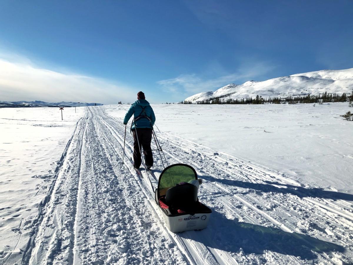 längdskidåkning barn pulka ullåtalen våffelstugan lillåstugan