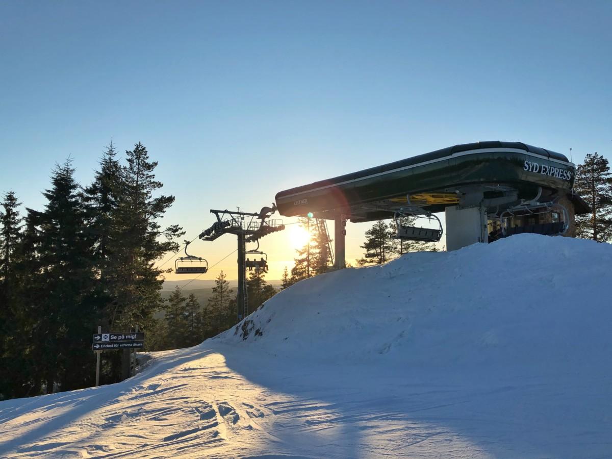 nya backar och ny lift i Romme alpin 2018