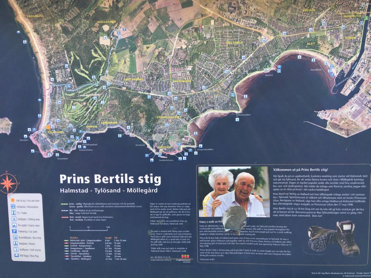 Guide till Halmstads stränder - Prins Bertils stig