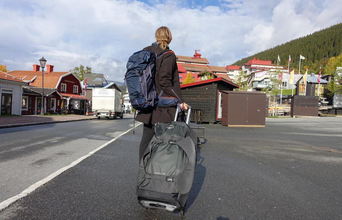 Osprey Sojourn - en rullväska och ryggsäck i ett, hybridväska