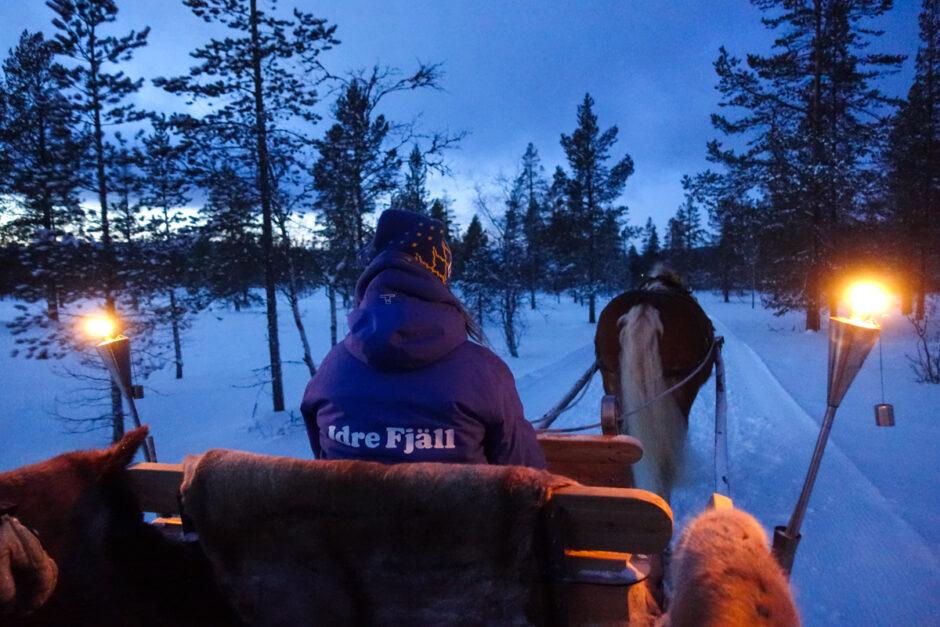 häst och släde i idre fjäll ski in ride out-7