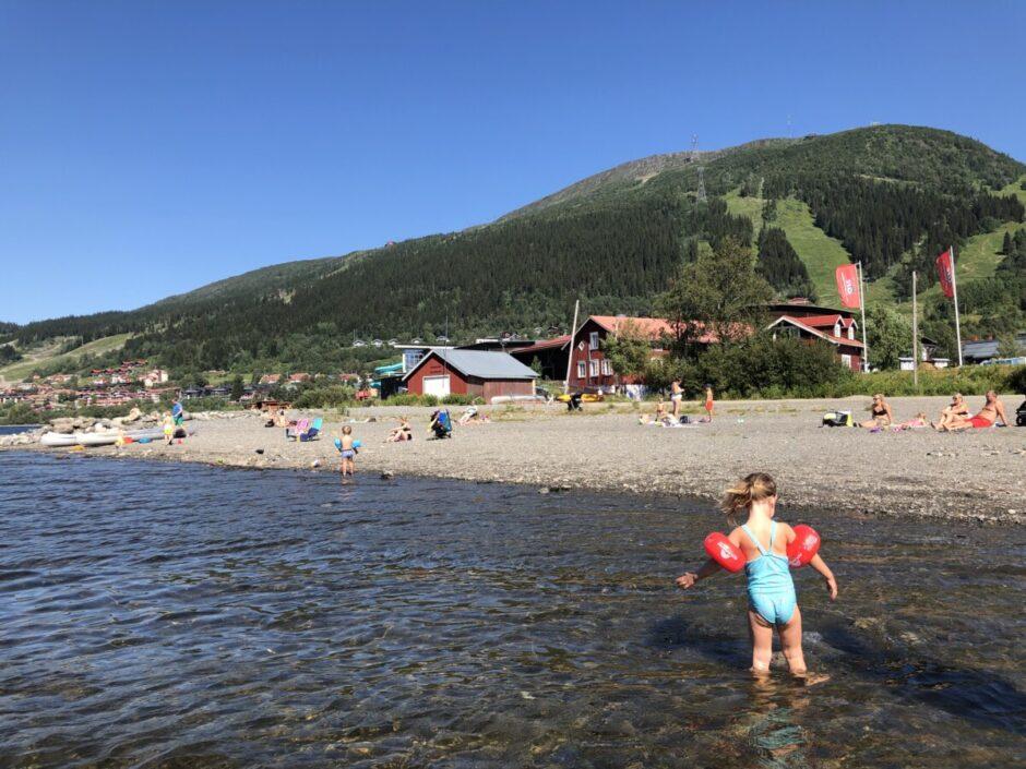 bada i Åre - badplats Åre strand