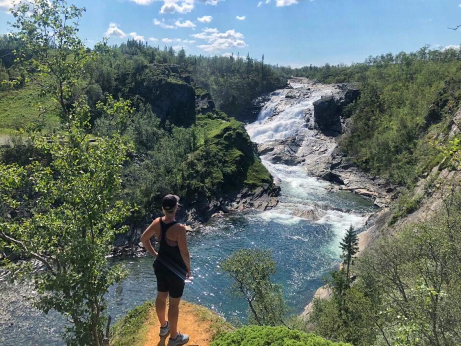 handöl Åre vattenfall Lisa träning löpning