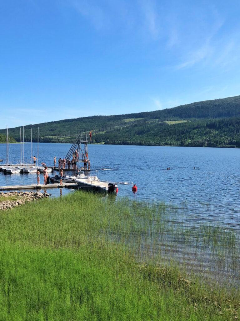 bada i åre - Åre marina - hopptorn i Åre