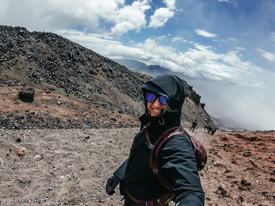 Utflykt Cotopaxi vandring mountainbike Ecuador höjdsjuka coca