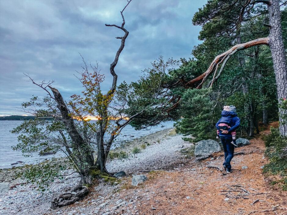 vandra Gålö havtornuddsslingan barn höst